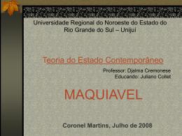Nicolau Maquiavel - Capital Social Sul