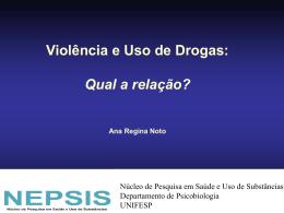 Violência e Uso de Substâncias