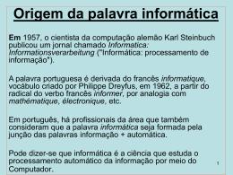 apresentação de informática