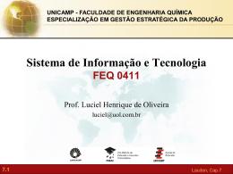 Sistemas de Informação Gerenciais Capítulo 7 Segurança em