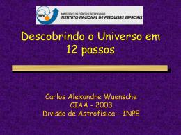 GALÁXIAS E COSMOLOGIA - Divisão de Astrofísica