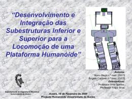 """""""Desenvolvimento e Integração das Subestruturas - LAR"""