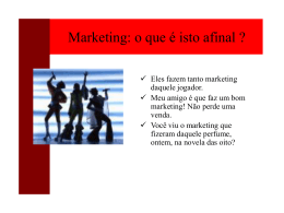 Materia de Marketing - Processos administrativos