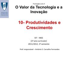 10-Produtividades e crescimento