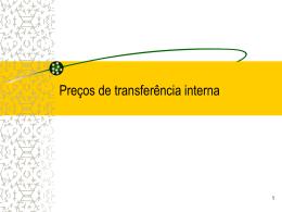 SISTEMA DE PREÇOS DE TRANSFERÊNCIA INTERNA