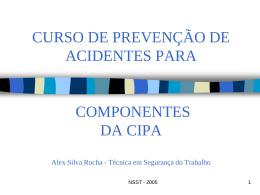 curso de prevenção de acidentes para componentes