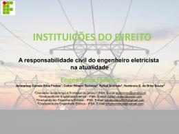 a responsabilidade civil do engenheiro eletricista