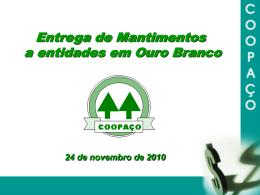 Dados Teatro Coopaço/Ocemg 24/11/2010