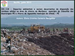 ESTUDO DE CASO - MURIBECA - Prefeitura municipal do Cabo