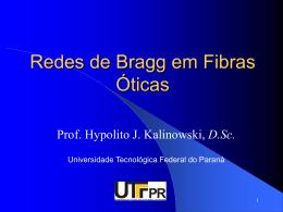 Redes de Bragg em Fibras Óticas