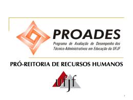 Apresentação PROADES – CAMP/PRORH