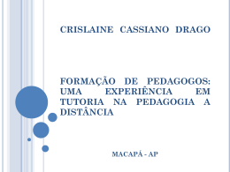 a formação do pedagogo à distância