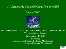 monitoramento e controle de experimentos via rede tcp/ip