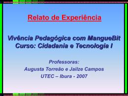 Relato de Experiência 2007
