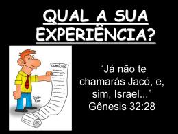 qual é a sua experiência com deus?