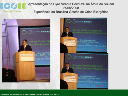Apresentação de Cyro Vicente Boccuzzi na África do Sul
