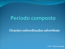 Profª.: Fátima Liporage