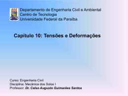 Cap. 10 - Centro de Tecnologia - Universidade Federal da Paraíba