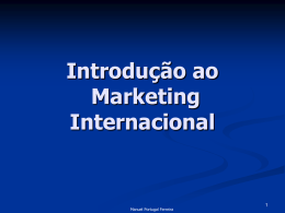 Introdução ao Marketing Internacional