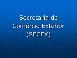 Organograma da Secex