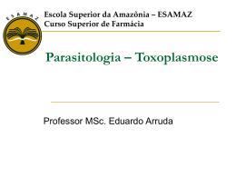 Toxoplasmose - Página inicial