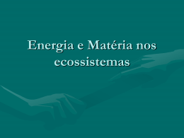 Aula 2_Energia e Matéria nos ecossistemasok