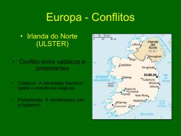 Europa - Conflitos - Capital Social Sul