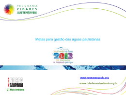 3 – Nina Orlow - Metas para gestão das águas paulistanas