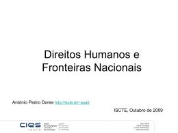 Direitos Humanos e Fronteiras