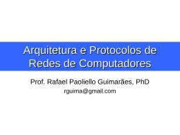 Arquitetura e Protocolos de Redes de Computadores