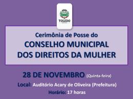 Posse do Conselho Municipal - Portal do Município de Toledo