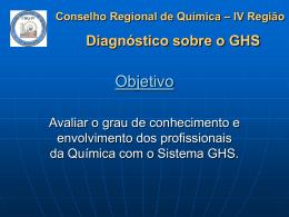 Pesquisa GHS feita pelo CRQ-IV