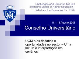 Conselho Universitário Agosto 2008