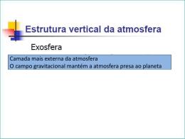 U4.1 - Estrutura da Atmosfera