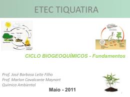 Ciclo Biogeoquímicos - Fundamentos