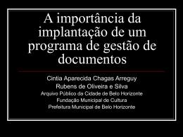 apresentacaocmbhcintia - Câmara Municipal de Belo Horizonte