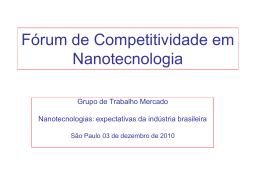 Fórum de Competitividade em Nanotecnologia