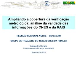 APRESENTAÇÃO CNES e RAIS - ALEXANDRE