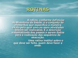 ROTINAS2 - Universidade Castelo Branco