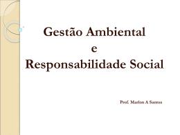 instrumento de política pública ambiental - Professor Marlon