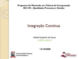 Integracao_Continua - Universidade Federal de Pernambuco