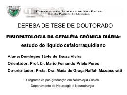 Slide 1 - Dr Mario Peres, Tratamento da Enxaqueca 11 3285-5726