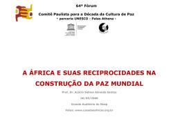 64º Fórum Comitê Paulista para a Década da Cultura de Paz
