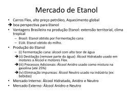 Mercado de Etanol - Universidade Castelo Branco