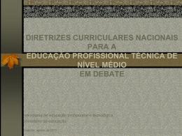 educação profissional técnica de nível médio em debate