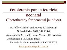Fototerapia para icterícia neonatal