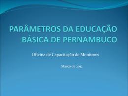 Projeto Parâmetros da Educação Básica de Pernambuco