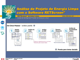 Análise de Projeto de Energia Limpa com o Software RETScreen