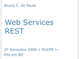 Apresentação referente a serviços REST