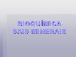 Sais Minerais - 2º trimestre